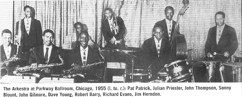 Arkestra with Johnny Thompson in Fall  1955
