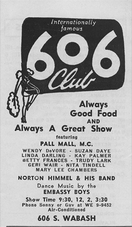 606 Club ad from March 27, 1954
