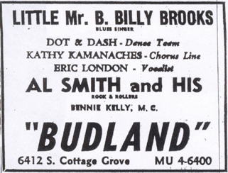 The first Budland ad from March 31, 1956