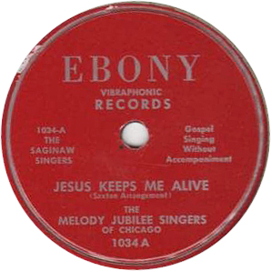 Melody Jublilee Singers of Chicago,
