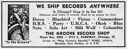 An ad from the Groove Record Shop May 1942