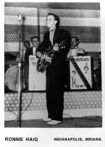 Ronnie Haig plays the Armory in Indianapolis, 1957