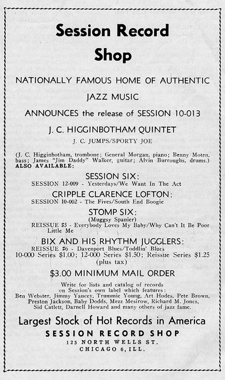 Session ad, July-August 1945