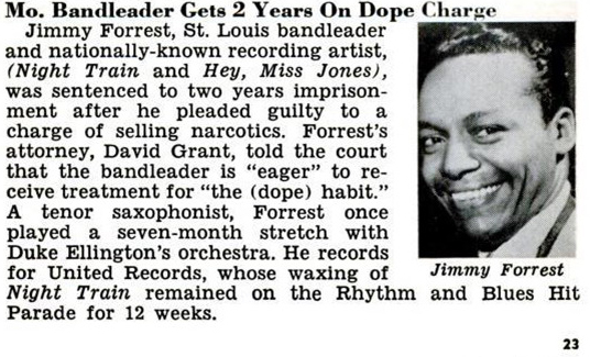 Jimmy Forrest pleads guilty, Jet, November 5, 1953