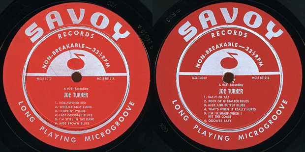 Joe Turner, labels to Savoy MG14012