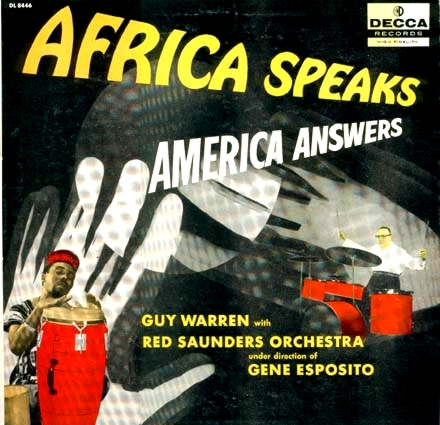 Cover to Guy Warren's LP, Decca DL8446