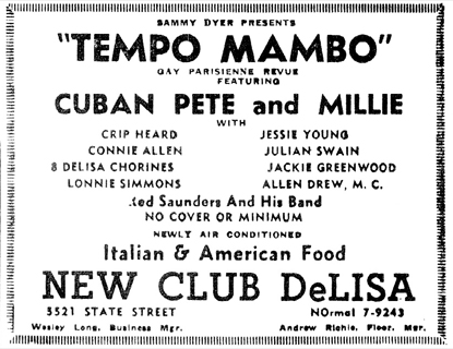 Connee Allen at the Club DeLisa, April 2, 1955