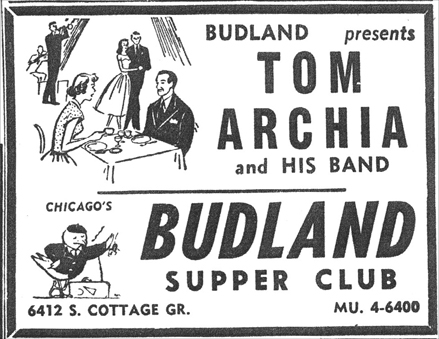 Tom Archia at Budland, March 9, 1957