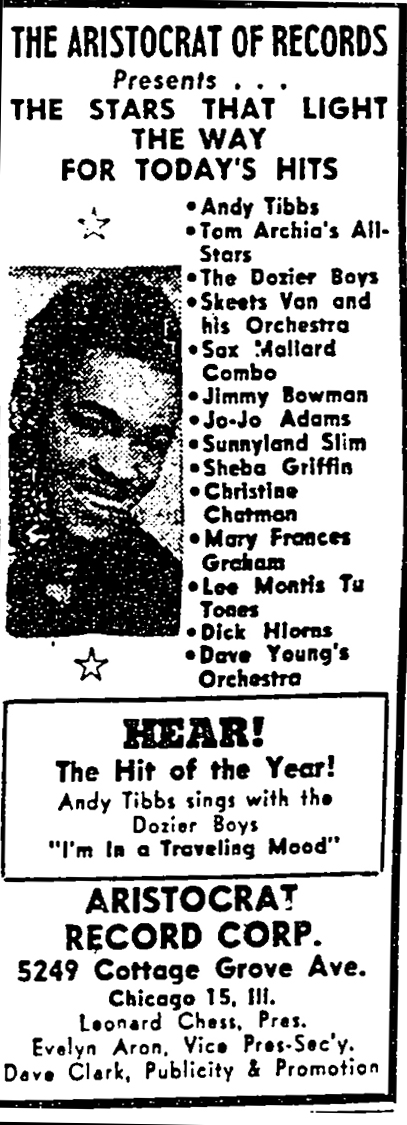 Aristocrat ad, Pittsburgh Courier, March 26, 1949, p. A3