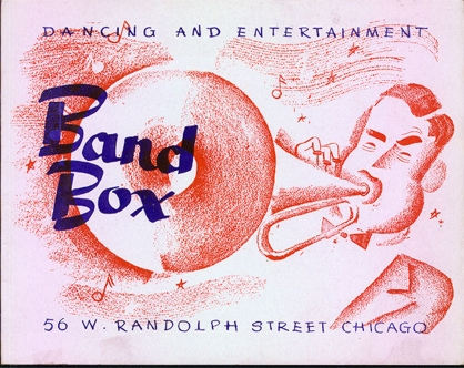Advertising flyer for the Band Box Cafe
