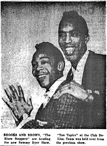 Brooks and Brown from the Chicago Defender
