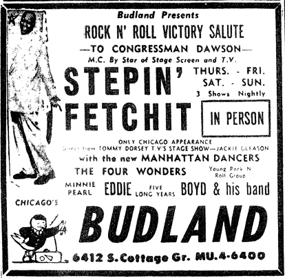 Stepin Fetchit at Budland, November 10, 1956