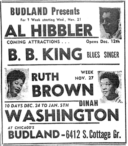 Budland headliners, November and December 1956