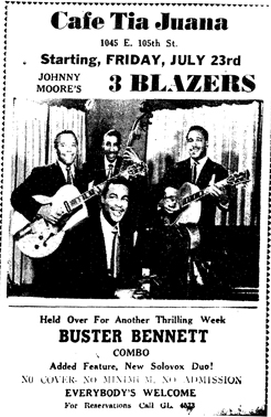 Buster Bennett at the Tia Juana, Cleveland Call and Post, July 24, 1948