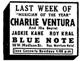 Jackie Cain and Roy Kral at the Blue Note, March 11, 1948