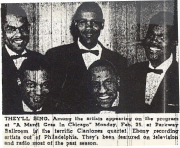 The Clantones in the Chicago  Defender, February 1952