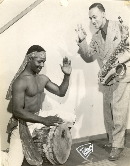 Claude and calypso drummer, date unknown