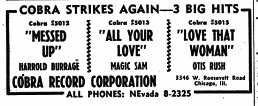 Ad for Cobra 5012, 5013, and 5015, June 24, 1957