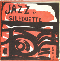 Original cover of Jazz in Silhouette, red and black
