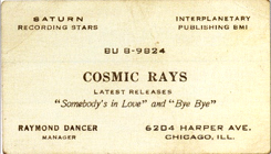 Raymond  Dancer's business card