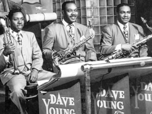 Dave Young with Pee Wee Jackson and Goon Gardner