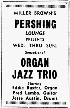 Eddie Buster at the Pershing Lounge in 1959