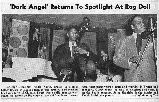 Eddie South at the Rag Doll, August 1948