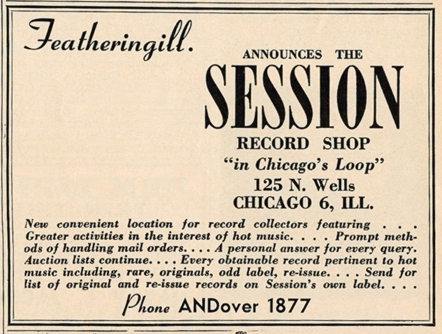 First ad for Session, Down Beat, December 1, 1943