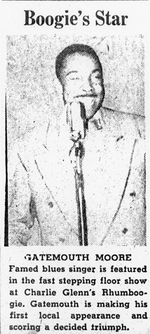 Gatemouth Moore in 1945