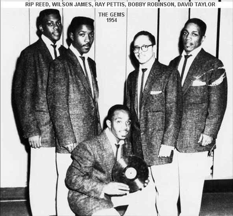 The Gems in 1954 with one of their records