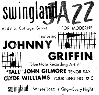 John Gilmore and Johnny Griffin at Swingland,  February 8, 1958