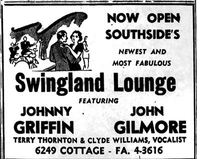 John Gilmore and Johnny Griffin at Swingland,  December 21, 1957