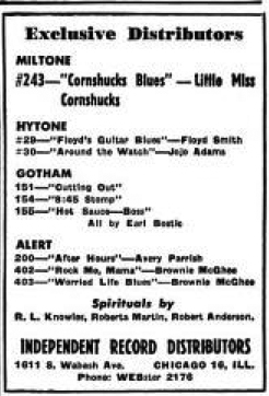 Independent Record Distributors ad, Billboard, February 28, 1948