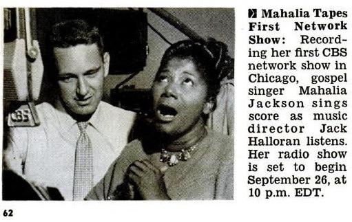 Jack Halloran with Mahalia Jackson, Jet, September 30, 1954