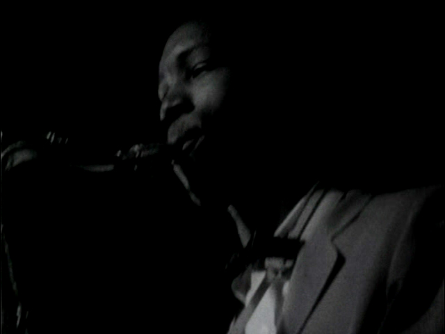 John Gilmore in the Blues at  Midnight scene