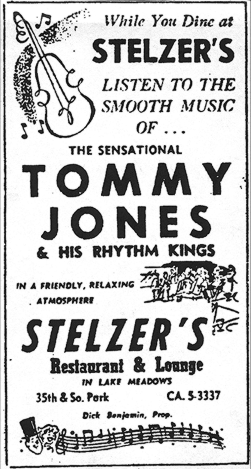 Tommy Jones ad, March 9,  1957