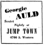 Jump Town ad from the Chicago Tribune of June 15, 1947