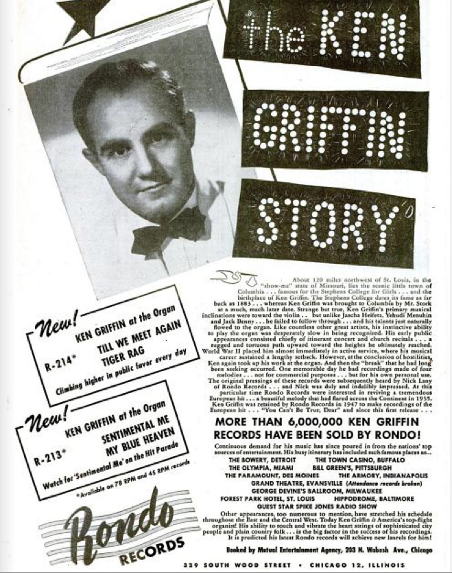 Giant Ken Griffin ad, January 21, 1950
