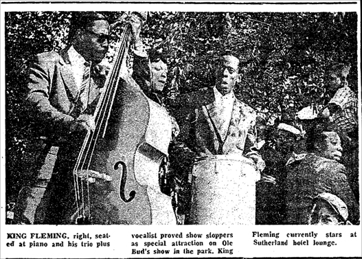 King Fleming at the Bud Billiken picnic, August 11, 1956