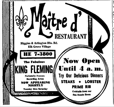 King Fleming ad, Chicago Daily Herald, September 1, 1966