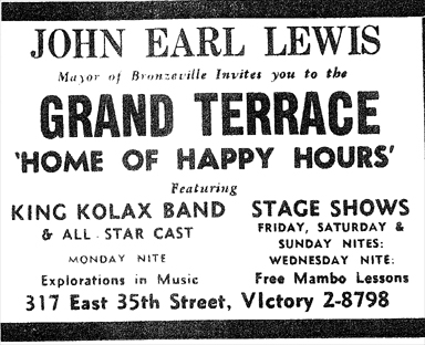 King Kolax at the Grand Terrace, January 7, 1956