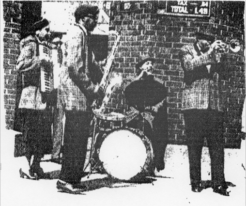 King Kolax quartet at Comiskey Park, April 1959