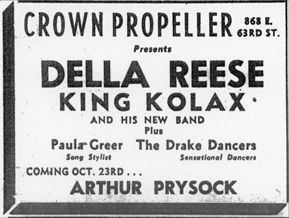 King Kolax at the Crown Propeller, October 20, 1956