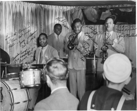 Sax Mallard with the Jump Jackson band, October 4, 1946