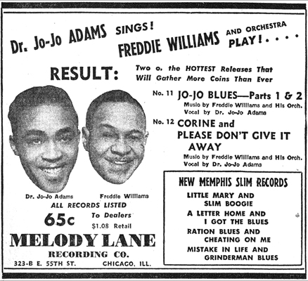 Melody Lane ad, Billboard, March 16, 1946