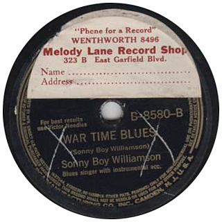 Sonny Boy Williamson on Victor with a Melody Lane sticker
