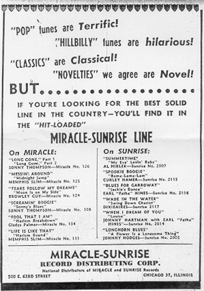 Ad for Miracle and Sunrise, June 19, 1948