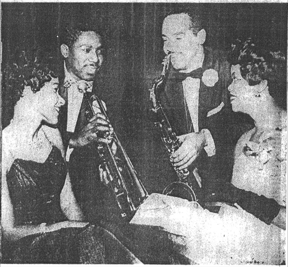 John Neely at a formal dance in 1958