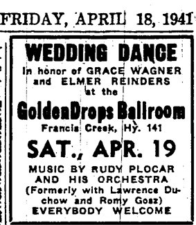 Ad for Rudy Plocar, April 1941