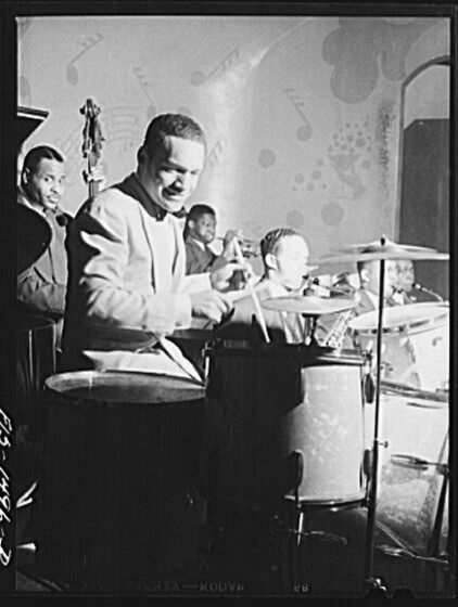 Red Saunders and band, April 1942